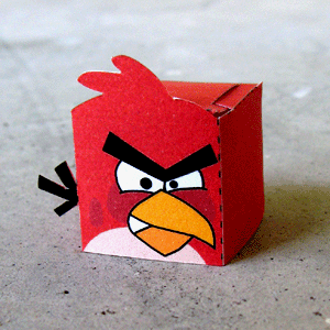 Angry Birds Red Paper Toy (Paper Craft)!