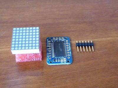 Assemble 8x8 LED Backpack