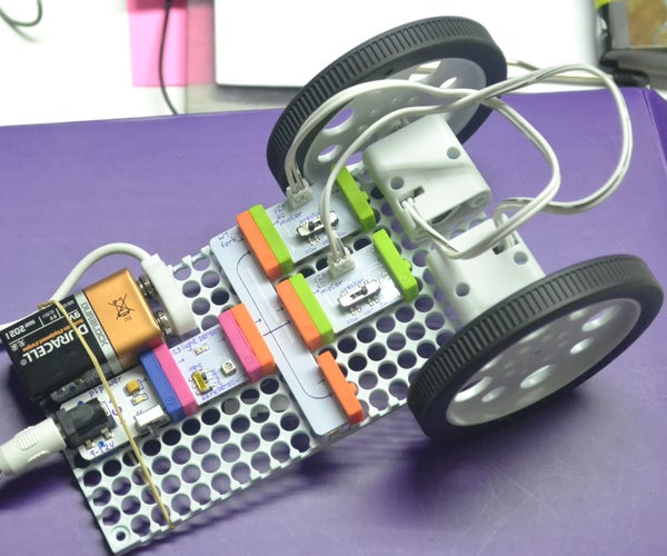 How to Make a Car With Little Bits Controller by a Light Sensor