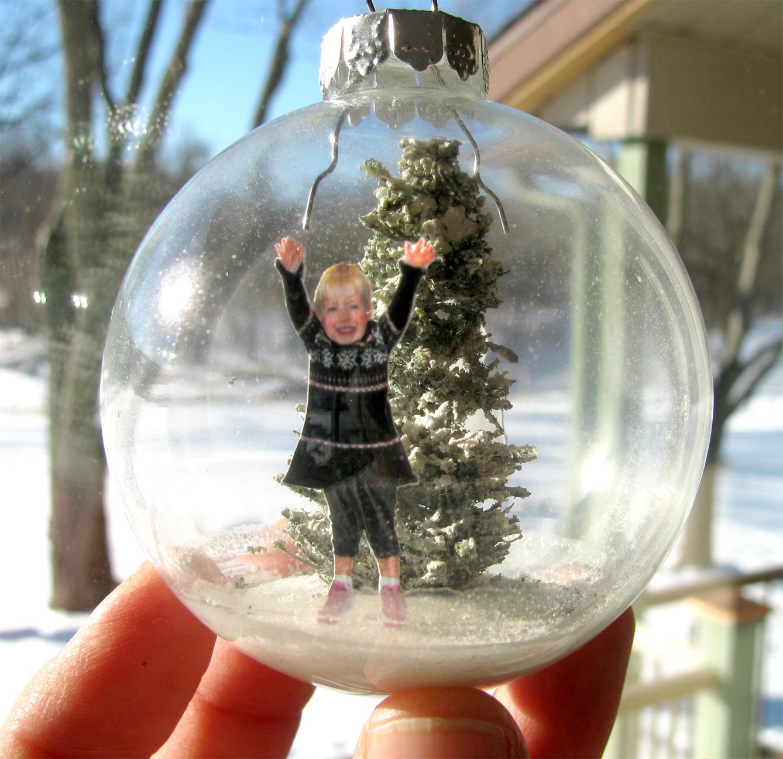 Make a Snow Diorama Glass Ornament