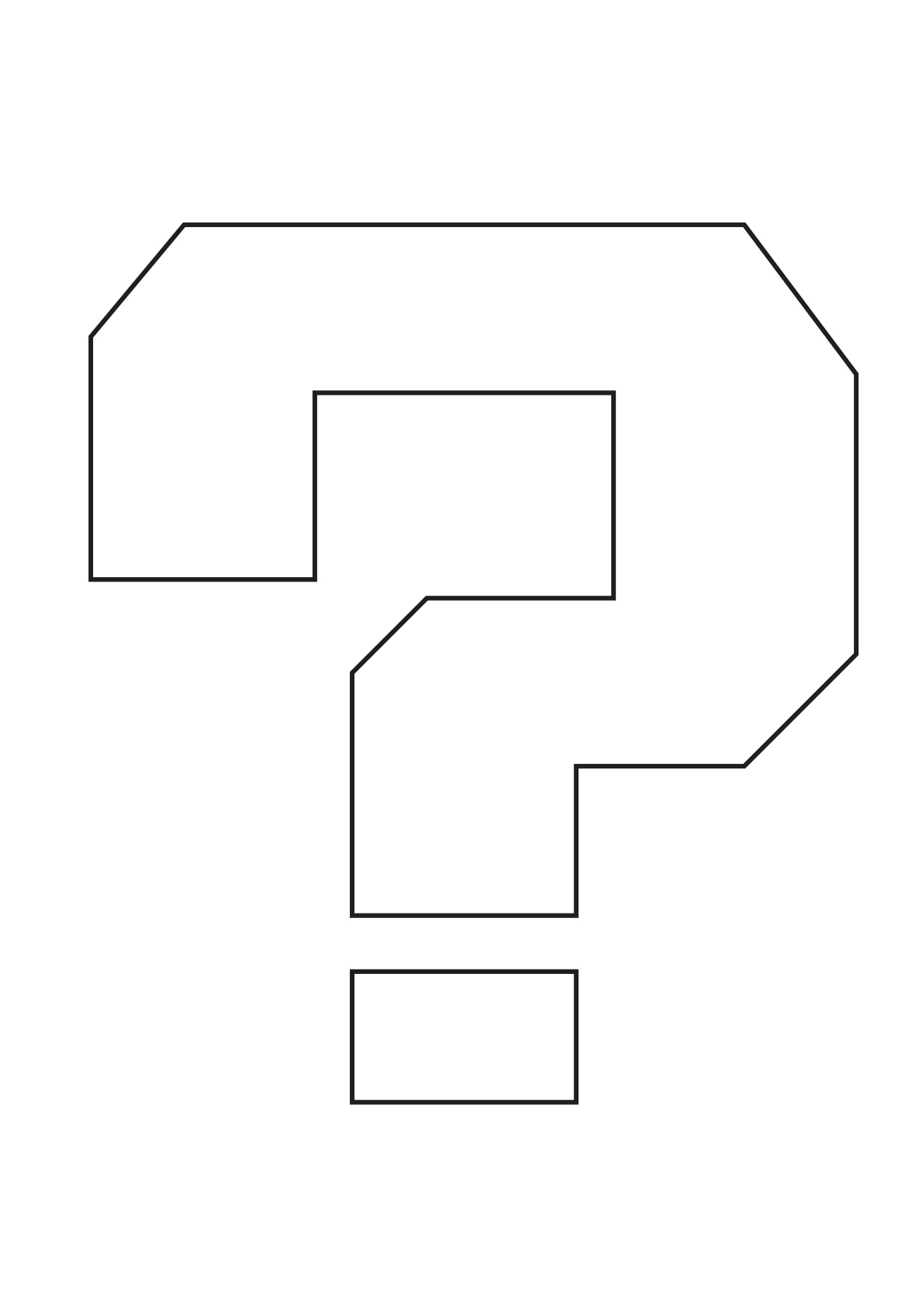 Coloring pages question mark - Question Mark Coloring Page