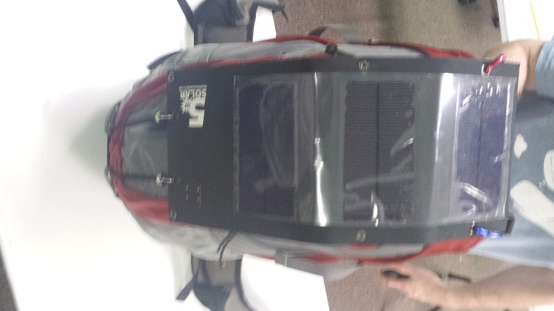 Backpack Mounted Solar Charging