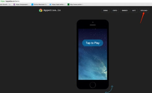 Upload Your App to Appetize.io