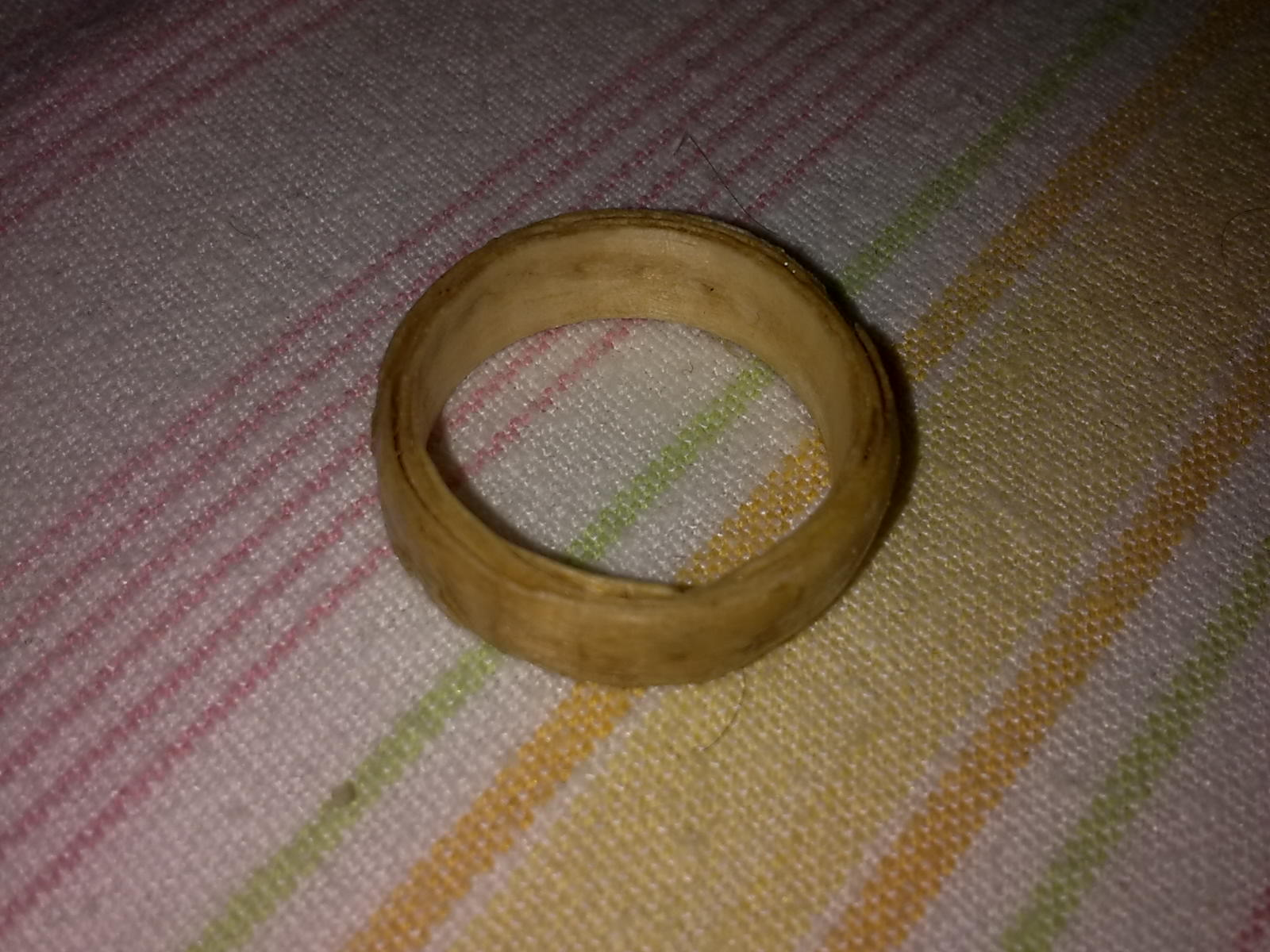 Pallet Wood Ring From a Single Wood Shaving