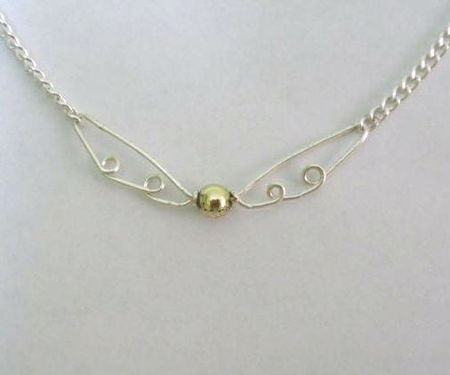 Wire Golden Snitch Necklace