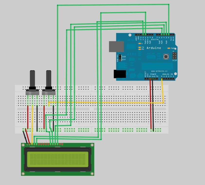 Arduino analog input display