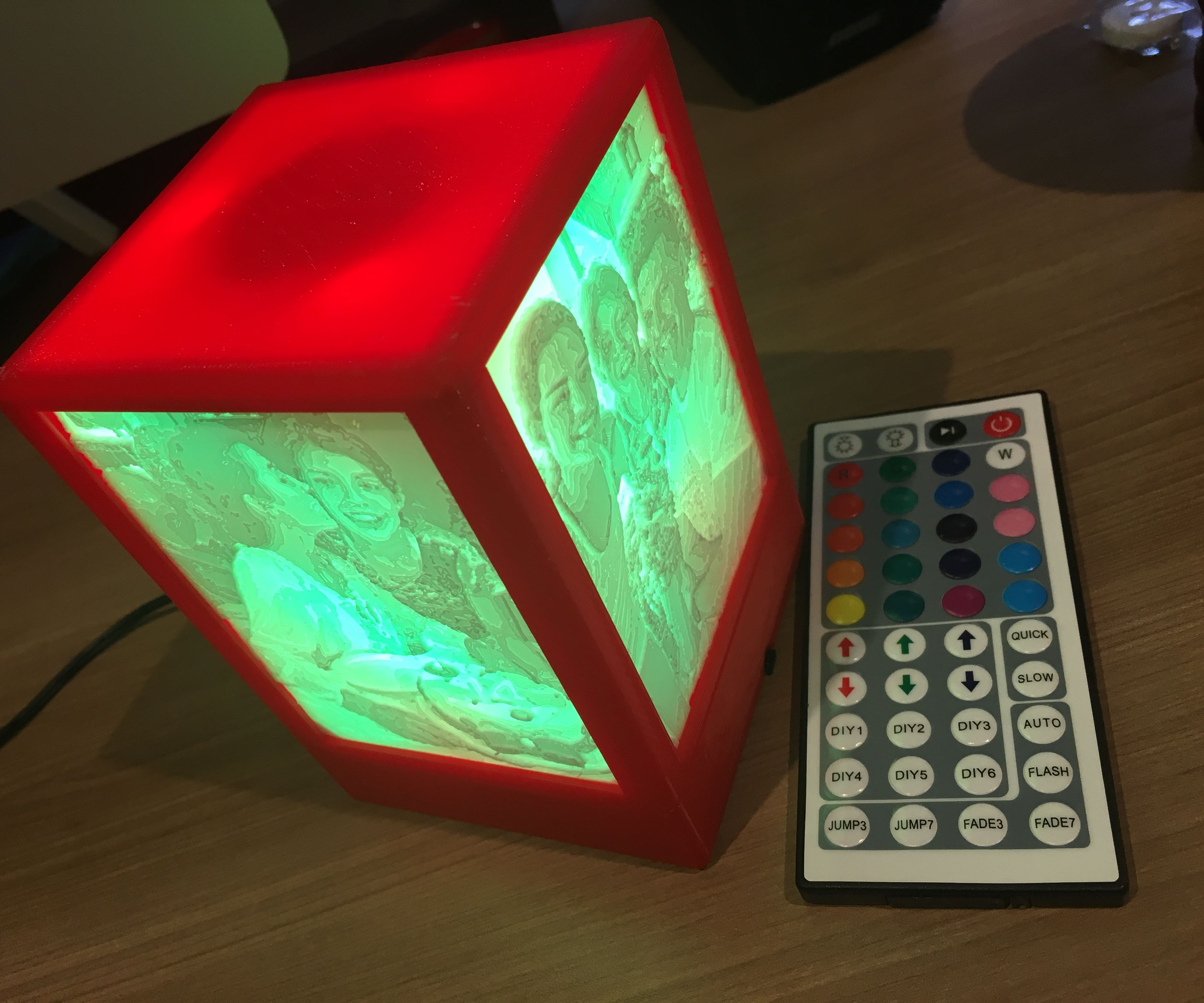 Lithophane Box With Remote