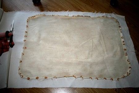 Canvas Over the Top of the Padding