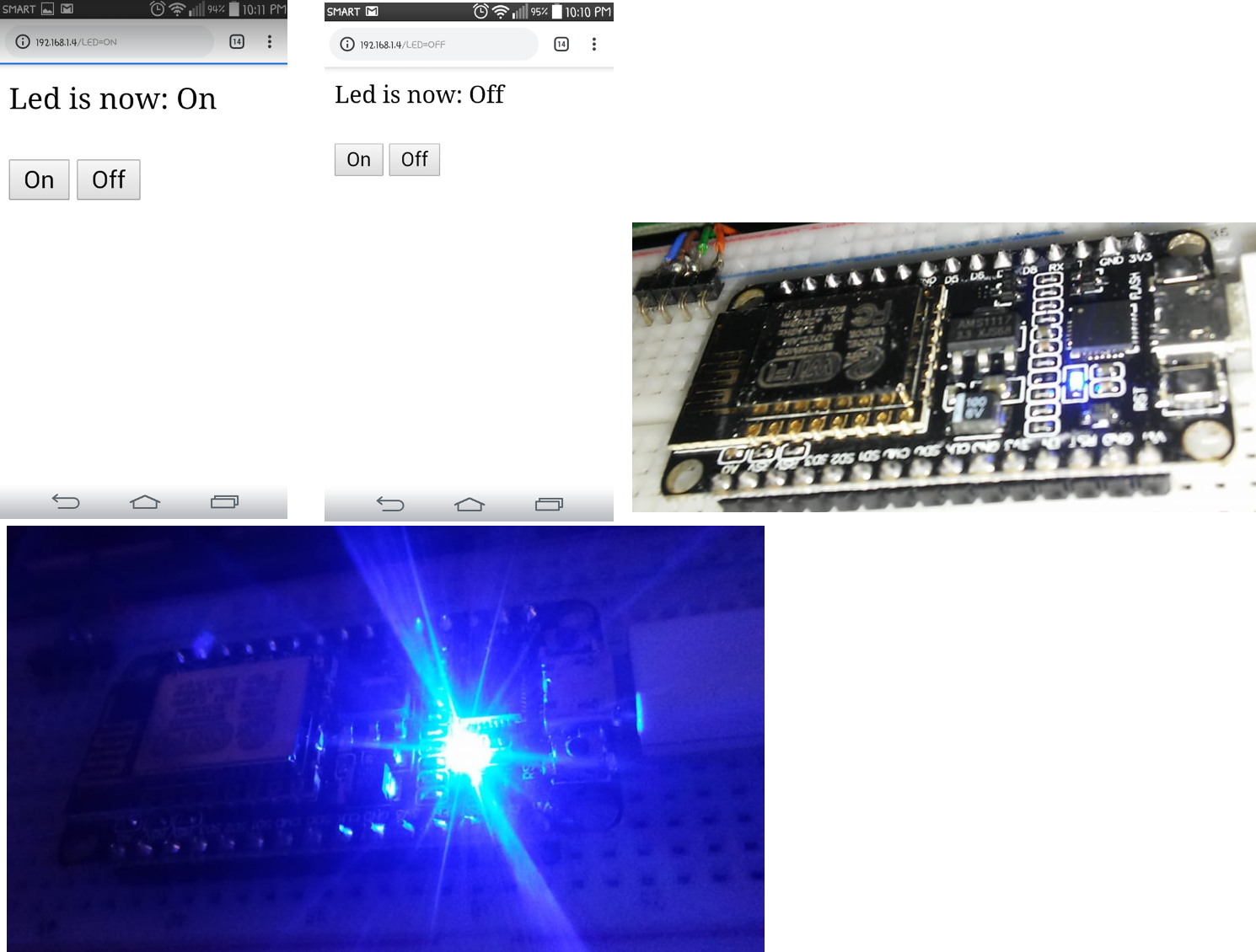 Internet Controlled LED Using NodeMCU
