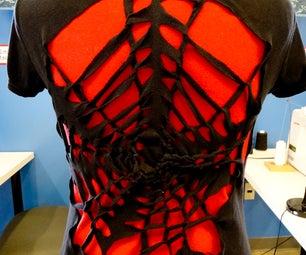 DIY T-shirt Design: Spider Web - No Sew