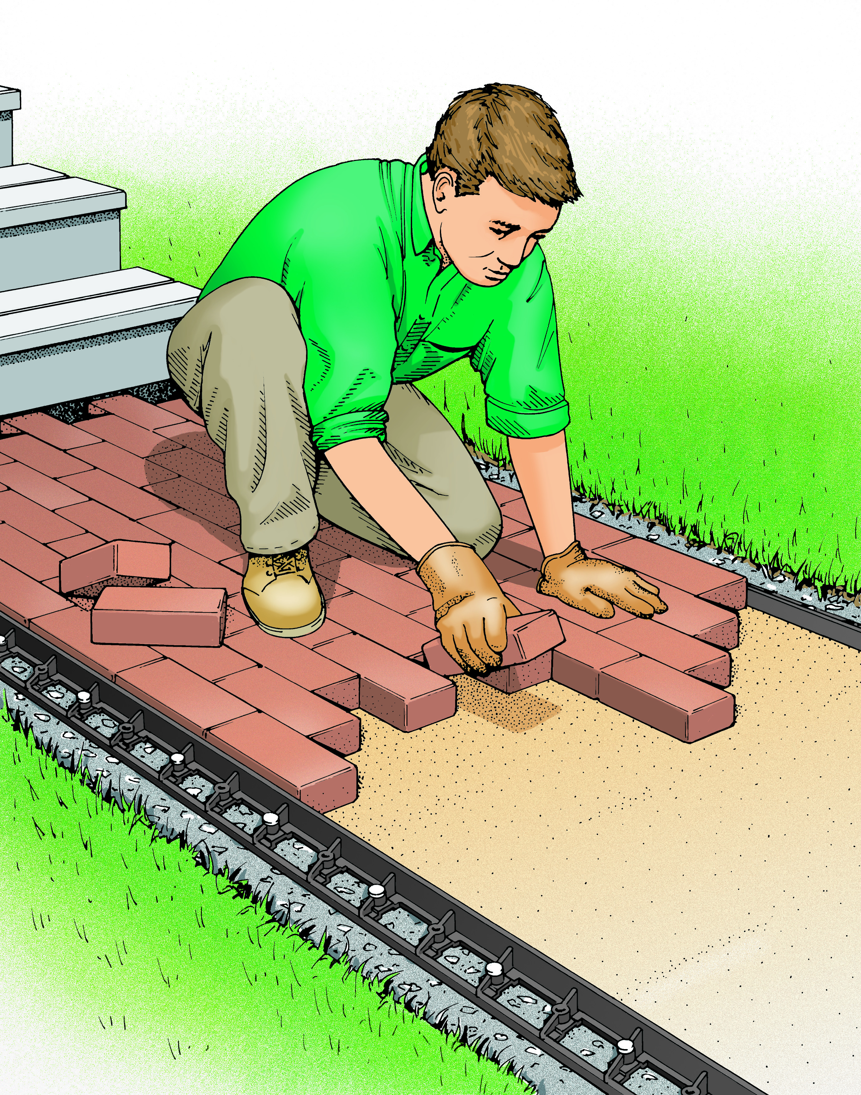 Build a Brick Walkway