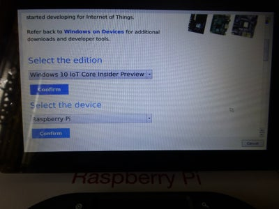 Install Windows 10 IOT Core Insider Preview