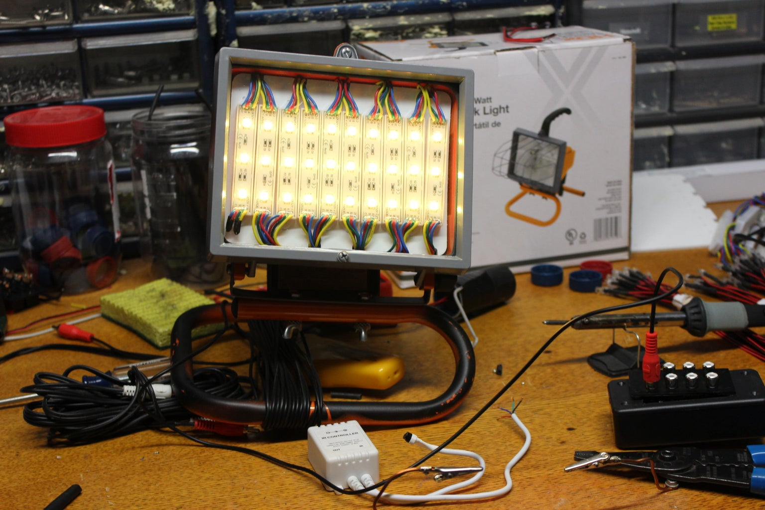 Making a Giant LED Flood Light