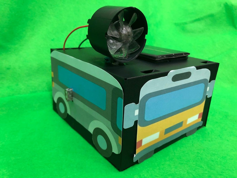 Veículo Sustentável - Carregador Energia Solar Híbrida Com Eólica