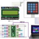 Raspberry Pi Pico -- 4x4 Matrix Keypad and 1602 LCD Interface