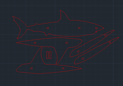 Laser Cut 3D Shark Puzzle