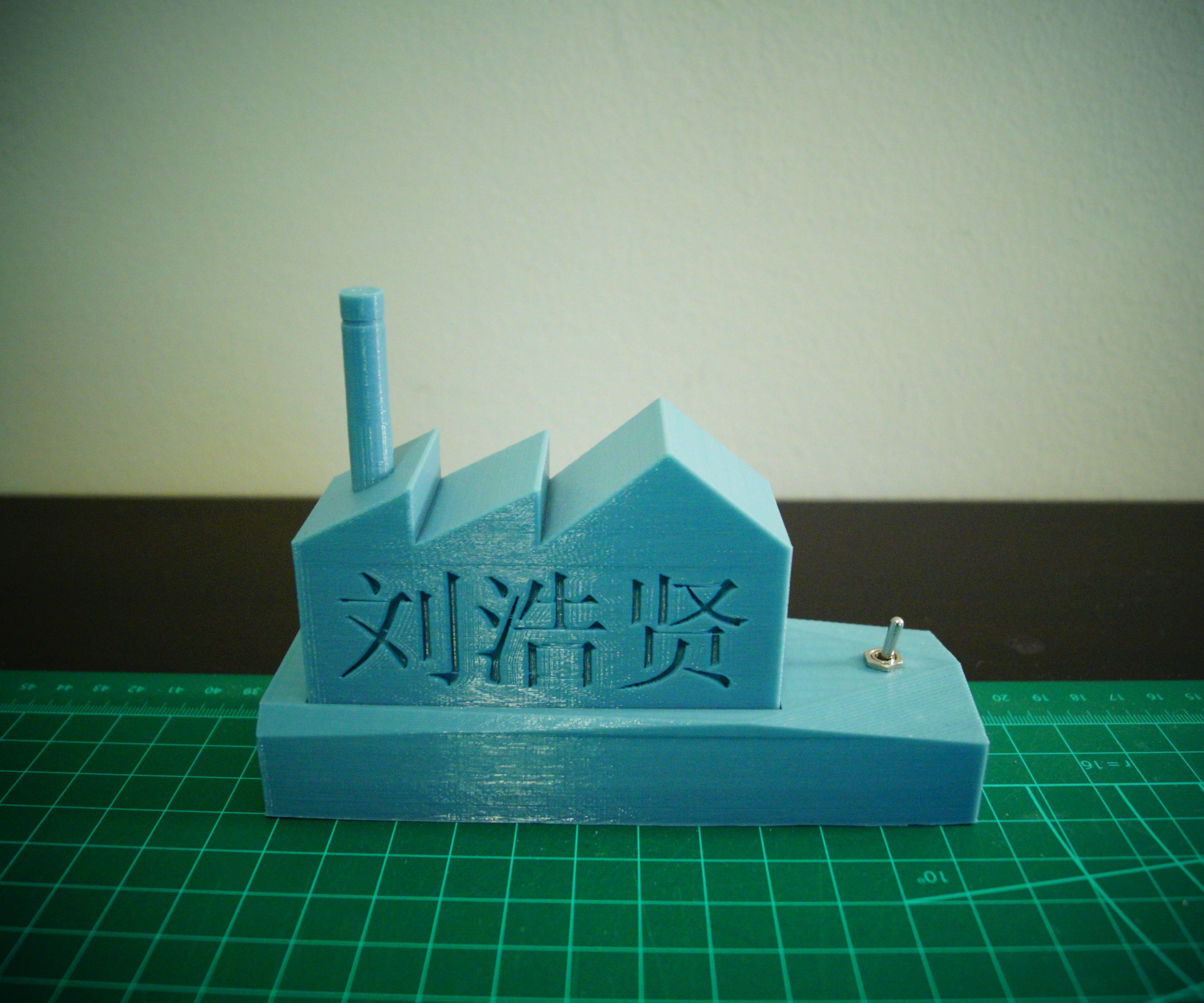 3D Printed LED Luminous Factory