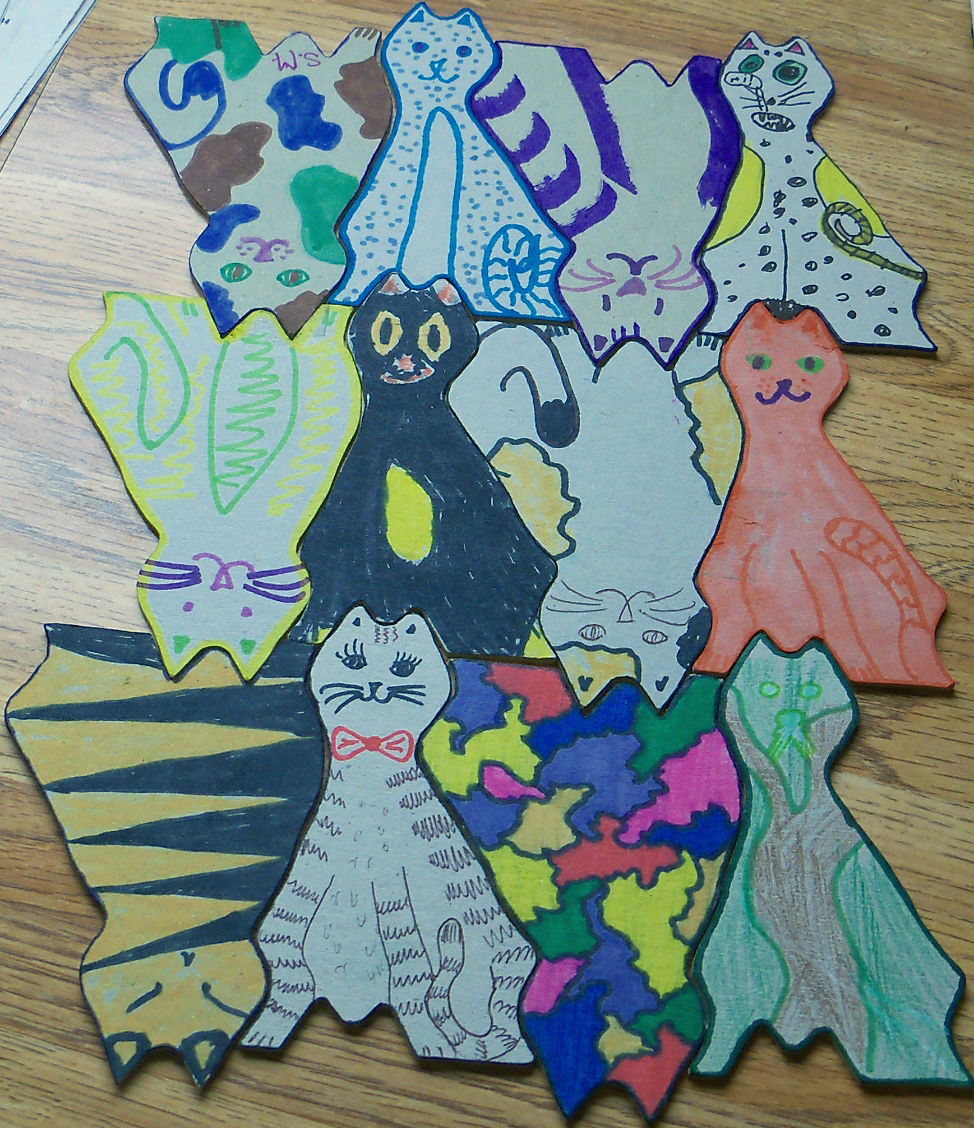 Tessellating Cats Decoration or Puzzle
