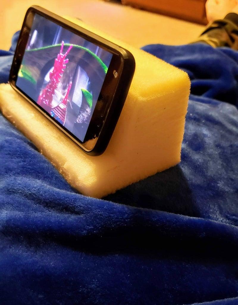 Scrap Foam Phone Stand