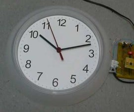 Playing With Hand Wall Clock