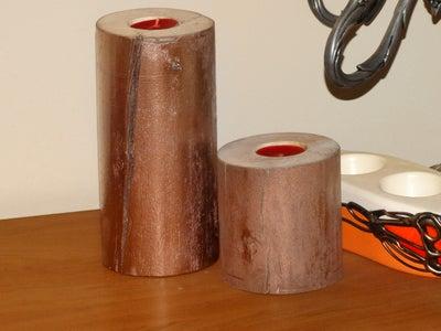 Handmade Wood Candlestick (tealight Holders)