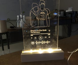 Spotify Glass Art