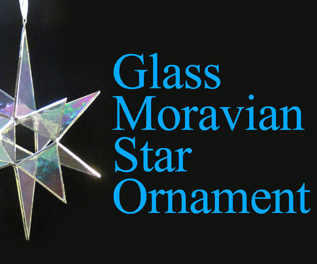 Stained Glass Moravian Star Ornament