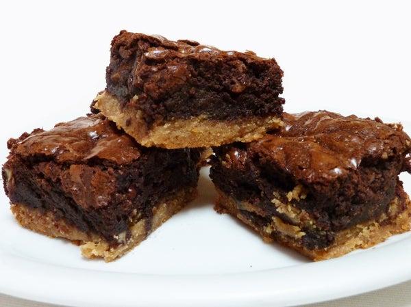 Toffee Bottomed Brownies