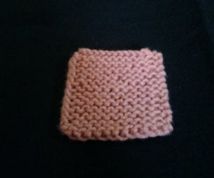 First Beginner Knit Project: Garter Stitch Square