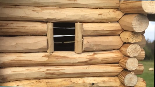 The Finished Log Cabin.