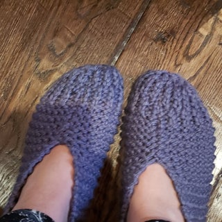 Easy Knitted Gramma Slippers