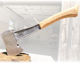 Patterned Plywood Hatchet Restoration