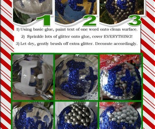 "3 Step Glitter ""Let It Snow"" Christmas Ornaments"