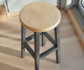Chevron Bar Stool