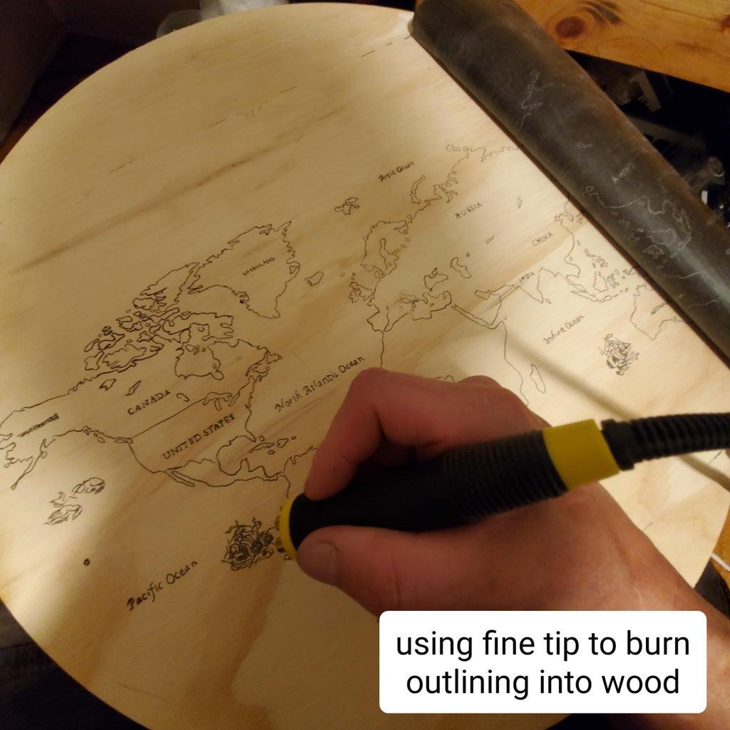 Start to Burn Wood Using Pyrography Machine.