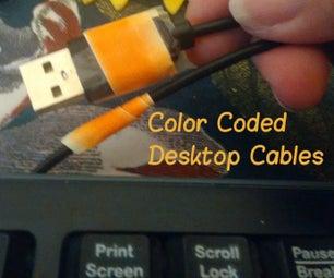 Color Coded Desktop Cables