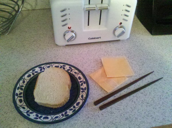 Chopstick Pseudo Grilled Cheese