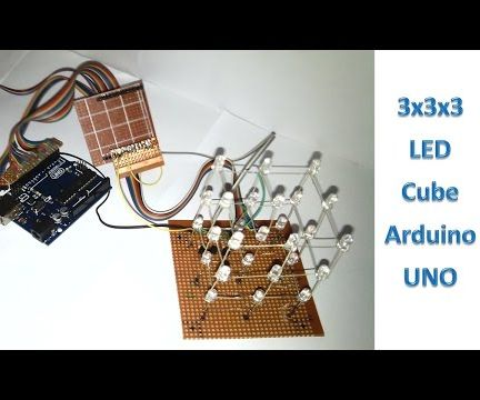 3x3x3 LED Cube Arduino-UNO