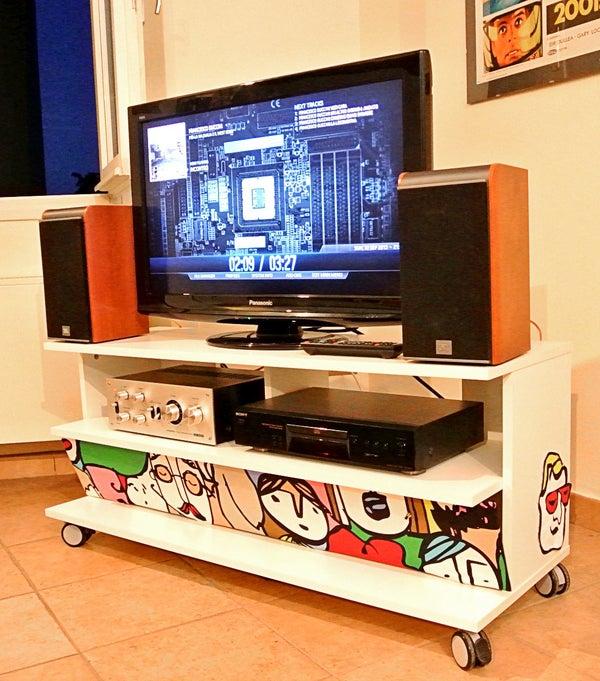 A PC Enclosed Into an IKEA Benno TV Furniture