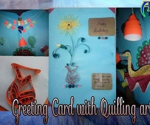 Greeting Card With Easy Quilling Art