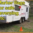 Marker Flags for Reversing Car/Trailer Safely