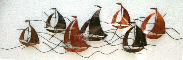 Metal Wall Art - Sailing Boats