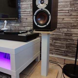 PVC and Plywood Speaker Stands for Cheap