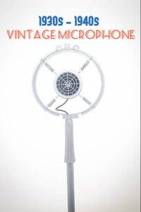 WWII Era Vintage Retro Microphone 1930s - 1940s Prop