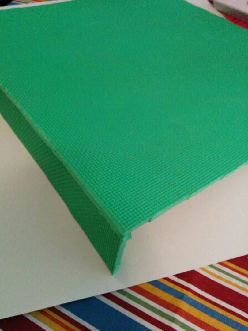 Take a Colored Foam Mat and Then Prepare to Cut to Size