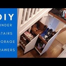 在楼梯下隐藏的存储抽屉