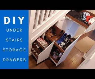 Under Stairs Hidden Storage Drawers