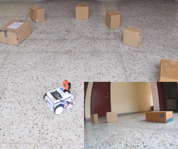 Obstacle Avoiding Robot Using Ultrasonic With Evive (Arduino Powered Embedded Platform)