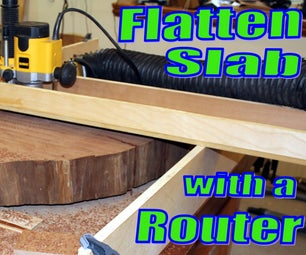 Flattening a Slab on My Bench With a Router