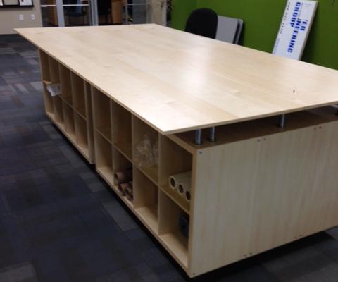 Ikea Kallax and Galant Engineering layout Table
